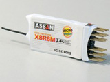 Assan X8-R6M 2.4Ghz 6-channel Micro Park-Flyer Receiver